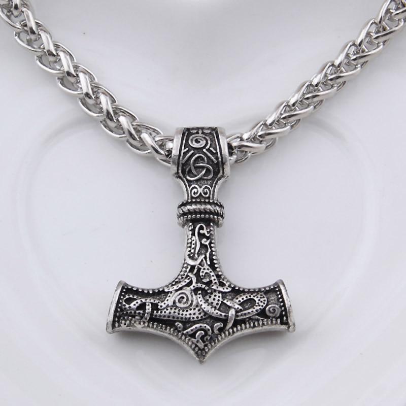 dropshipping 1 stk thor's hammer mjolnir anheng halskjede viking - Mote smykker - Bilde 3