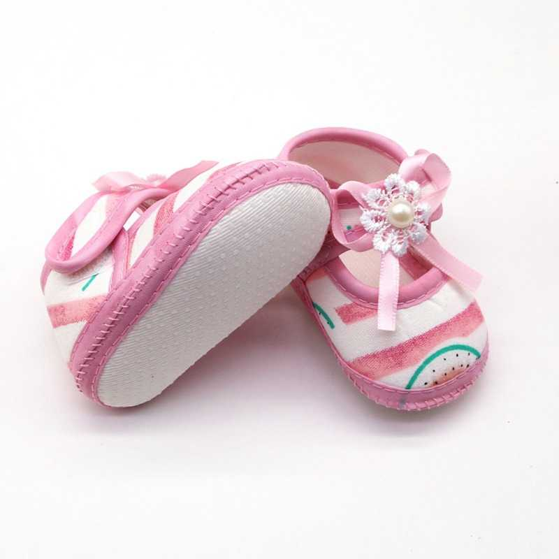 Baby Girl Shoes Breathable Cartoon Watermelon Pattern Anti-Slip Shoes Casual Sneakers Toddler Soft Soled First Walkers