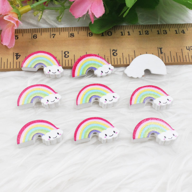 20pcs/lot Rainbow Lead-free Wood Beads for Bracelet/Necklace Hole: approx 2mm-2.5mm, 12x22mm K05340