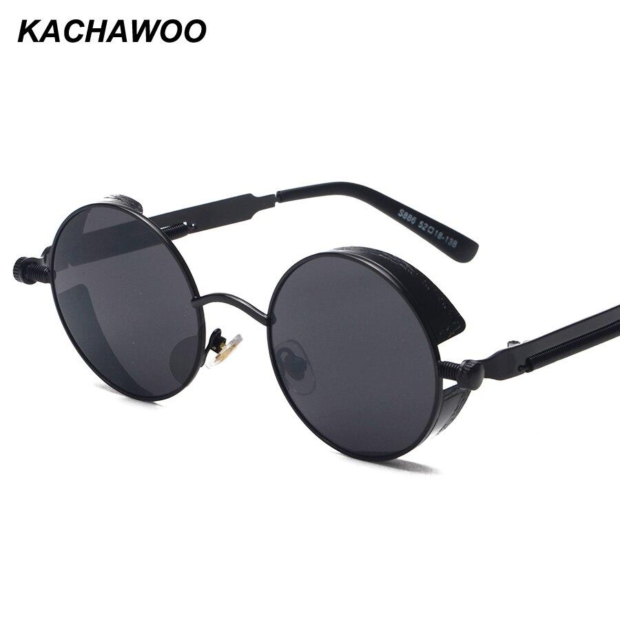 a21933d496f Kachawoo round steampunk sunglasses men vintage glasses steam punk sun  glasses for women summer 2018 men gift UV400