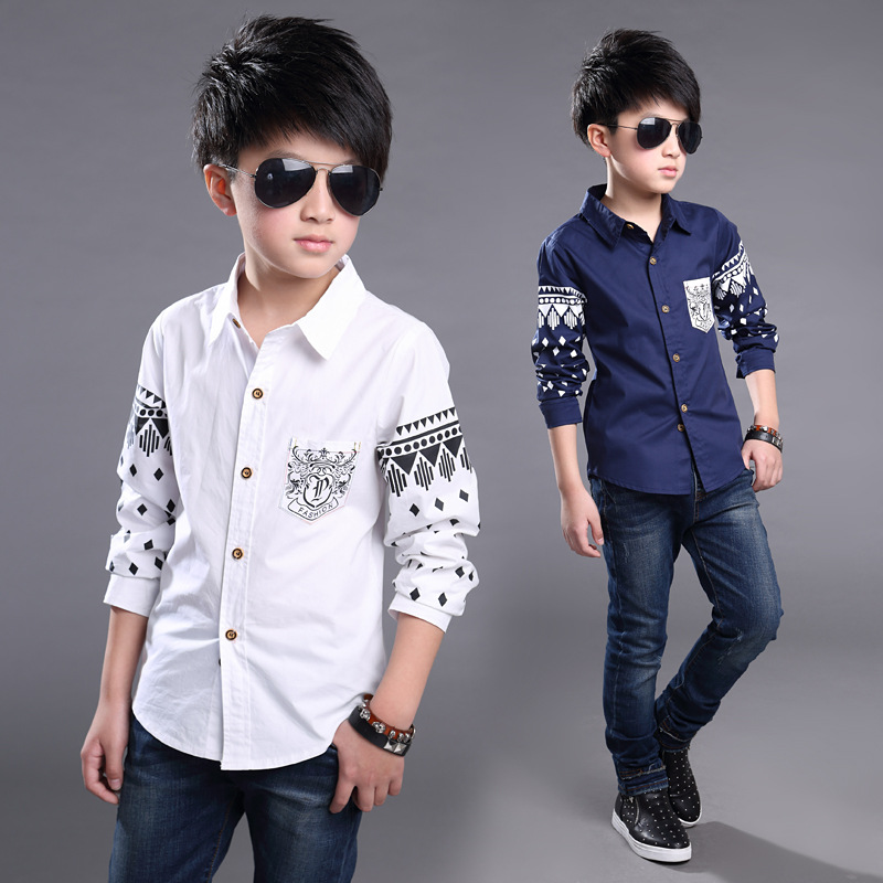 2017 Spring and Autumn New Boy Shirt Korean version of the ...