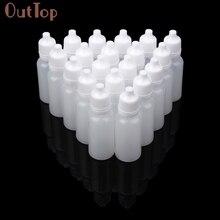 OutTop 100 pièces 5ml/10ml/15ml vide en plastique compressible compte gouttes bouteilles oeil liquide compte gouttes bouteilles rechargeables 2018 DEC19
