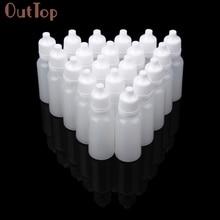 OutTop 100 sztuk 5ml/10ml/15ml puste plastikowe butelki z kroplomierzem do wyciskania kroplomierz do oczu butelki wielokrotnego napełniania 2018 DEC19