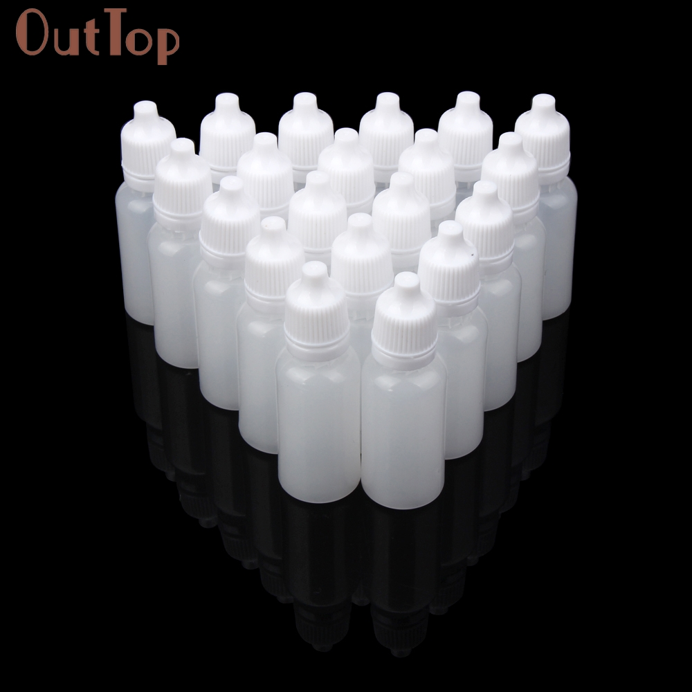 OutTop  100PCS 5ml/10ml/15ml Empty Plastic Squeezable Dropper Bottles Eye Liquid Dropper Refillable Bottles 2018 DEC19-in Refillable Bottles from Beauty & Health