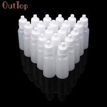 Outtop 100 pces 5ml/10ml/15ml vazio plástico squeezable conta-gotas garrafas olho líquido garrafas recarregáveis 2018 dec19
