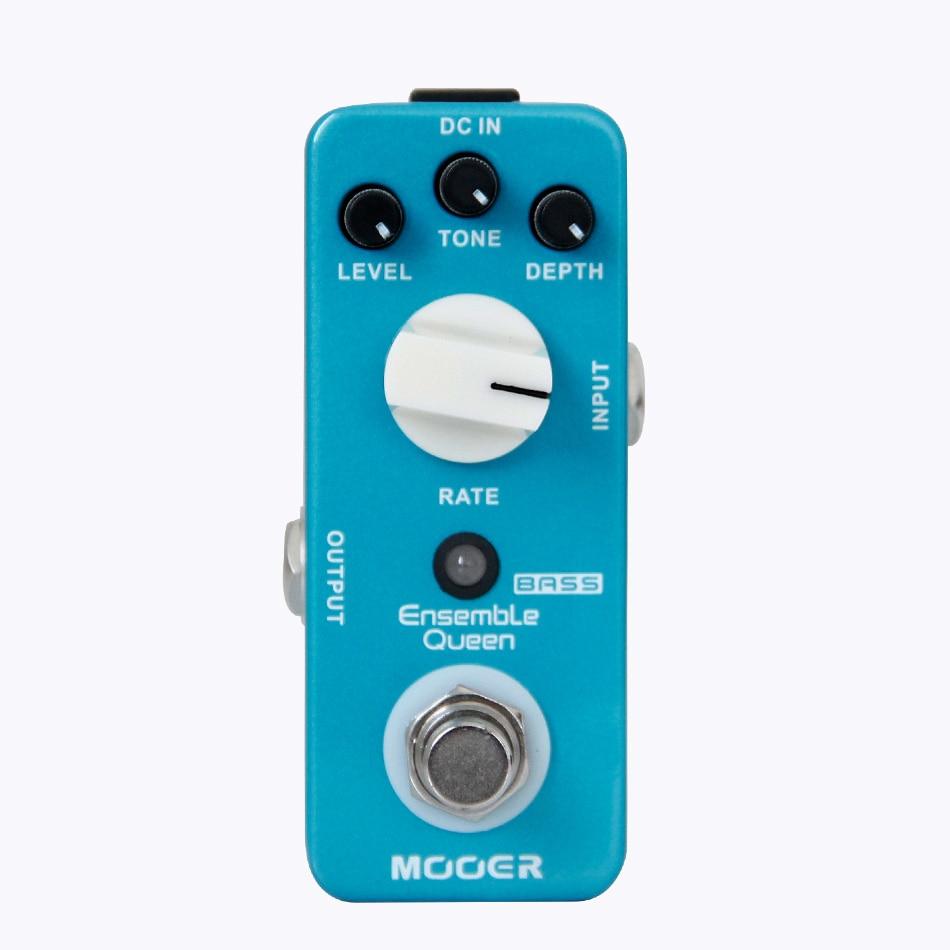 2017 NEW MOOER Ensemble Queen Bass Chorus pedal True Bypass status new effect pedal mooer solo distortion pedal full metal shell true bypass