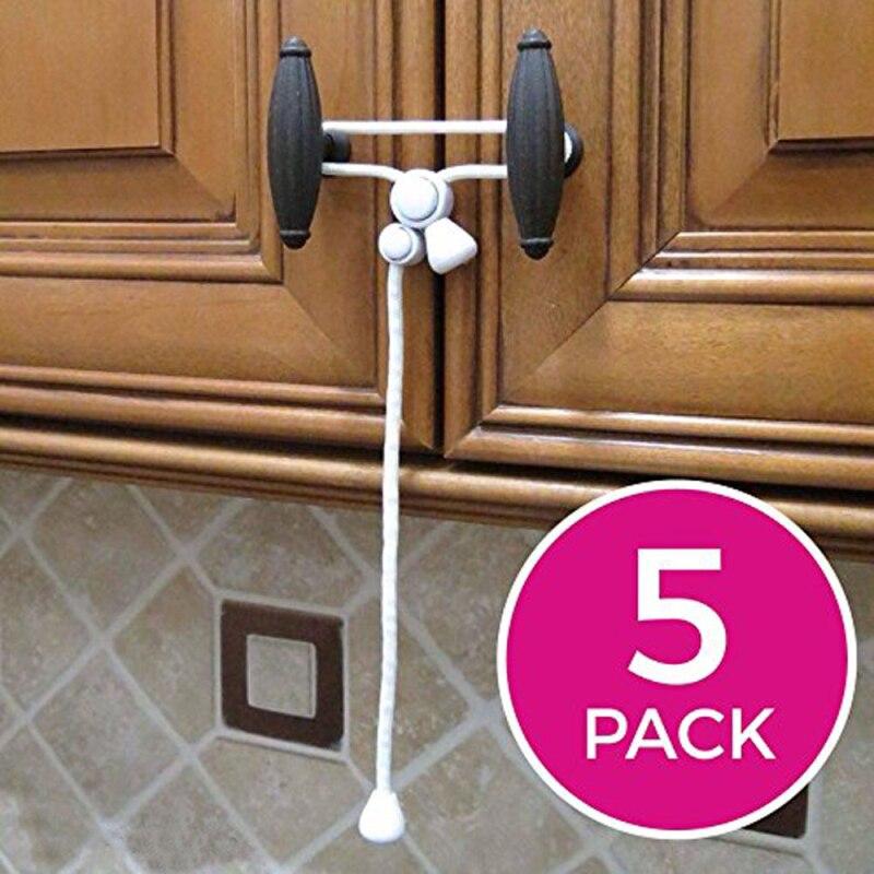 1 Pcs Kiscords Baby Safety Cabinet Locks Child Safety Cabinet Latches For Home Safety Strap Baby Proofing Cabinets Kitchen Door