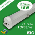Free Shipping  10pcs/lot  Top quality  1.2m T5 led tube  ,High light smd led light/T5 18w fluorescent tubes SMD 2835,AC85-265V