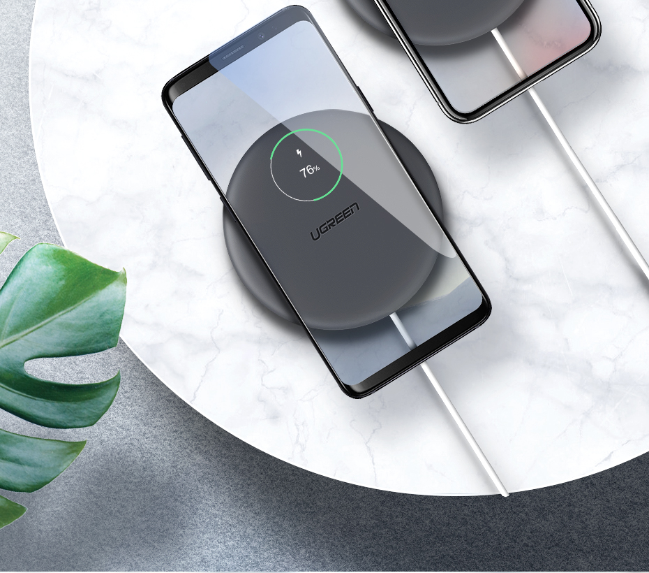 Ugreen Wireless Charger 10W 7.5W Qi Wireless Charging for xiaomi mi 9 iPhone X XS 8 XR Samsung S9 S8 Fast Phone Wireless Charger 5
