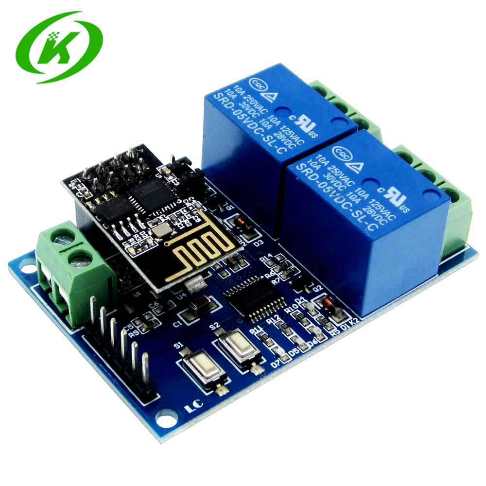5V ESP8266 ESP-01 2 Channel WiFi Relay Module 2 Channel Relay Module For IOT Smart Home 5v 2 channel ir relay shield expansion board module for arduino with infrared remote controller