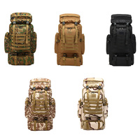 80L Hunting Camping Rucksack Mountaineering Unisex Travel Outdoor Sport Bags Backpacks tactical Backpack