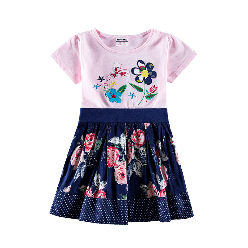 novatx H7109 Retail Brand New Kids Clothes Child Blouse Clothing For baby Girls T shirts Top summer cloth Flower Spring Autumn