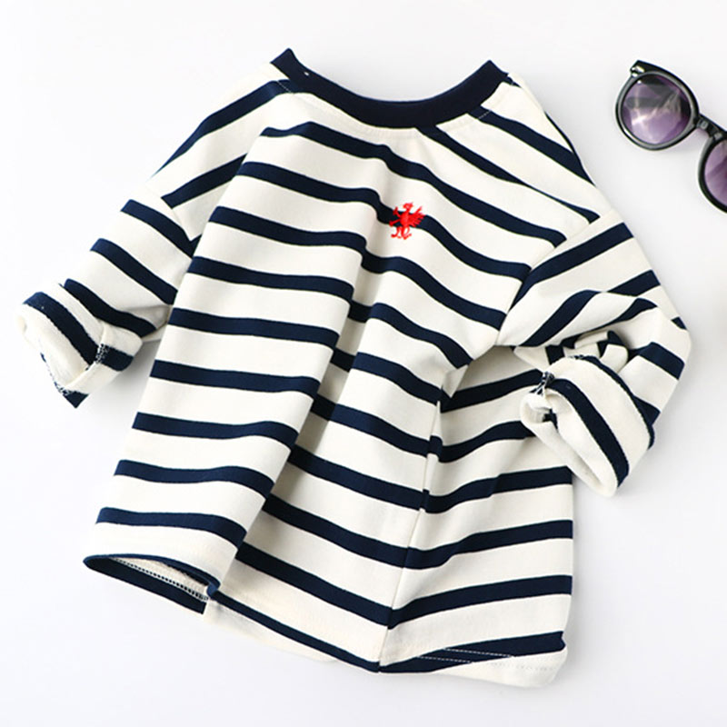 Boys Spring Hoodies Children Cotton Long Sleeve Sweatshirt Striped Casual Pullover Kids Boy Clothing Fashion O-Neck Sweatshirts 2