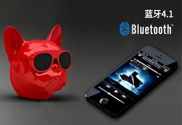 10PCS Wireless Bluetooth Speaker Bulldog Speaker Subwoofer Deep Bass Portable Speakers Loudspeaker Handsfree TF Touch Control 2