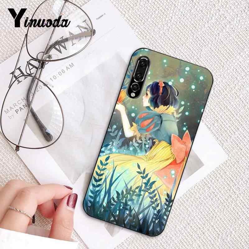 Yinuoda Salju Putih Hitam Soft Shell Ponsel Cover untuk Huawei P9 P10 Plus Mate9 10 Mate10 Lite P20 Pro Honor10 view10