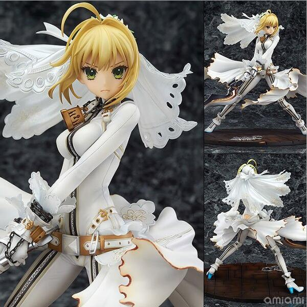 22cm Fate Stay Night Saber White Action Figure Pvc Toys