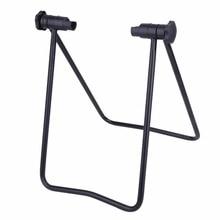 Фотография New High Quality Universal Portable Bicycle Bike Display Triple Wheel Hub Repair Stand Kick stand for Parking Holder Folding Hot