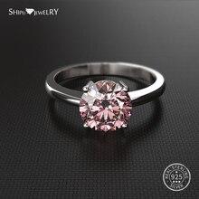 цена на Shipei 100% 925 Sterling Silver Ring Fine Jewelry 2ct White Sapphire Engagement Wedding Ring for Women Men Anniversary Gift