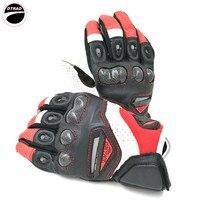 Heiße verkäufe von motorrad racing ritter leder handschuhe RST 417 fahrrad fahren eine moto können touchscreen handschuhe