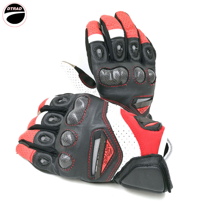 Hot sales of motorcycle racing knight leather gloves RST 417 bicycle driving a moto can touch
