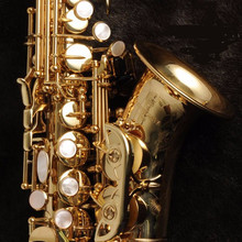 New arrive  Gold Lacquer Soprano Saxophone B-flat Saxophone Musical Professional Fast Shipping