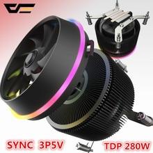 GO-enfriador de CPU 5V TDP 280W 4 pines LED PWM RGB, refrigerador del radiador, Control de sincronización de la placa base para intel AM3/AM4/2011/LGA