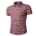 MEBOSYA 2016 Ney Mens ropa Camisa Hawaiana Hombre Homme CasualFashion flores Playa Impresa Camisas de Manga Corta