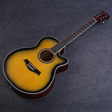 40-inch Acoustic Guitar Beginners Basswood Guitar Matte Hornless Practice Guitarra Sunset JT23 38 inch acoustic guitar for beginners folk guitar 6 strings basswood guitar 13 colors high quality music instruments agt16