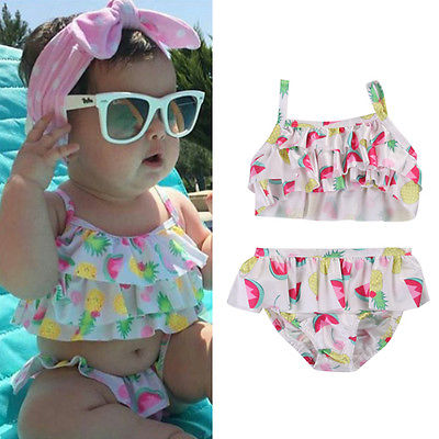984f83787a76f Baby Girl Summer Clothing Cute Newborn Baby Girls Fruits Tankini Bikini top  shorts Swimwear Swimsuit Bathing Suit Beachwear-in Clothing Sets from  Mother ...