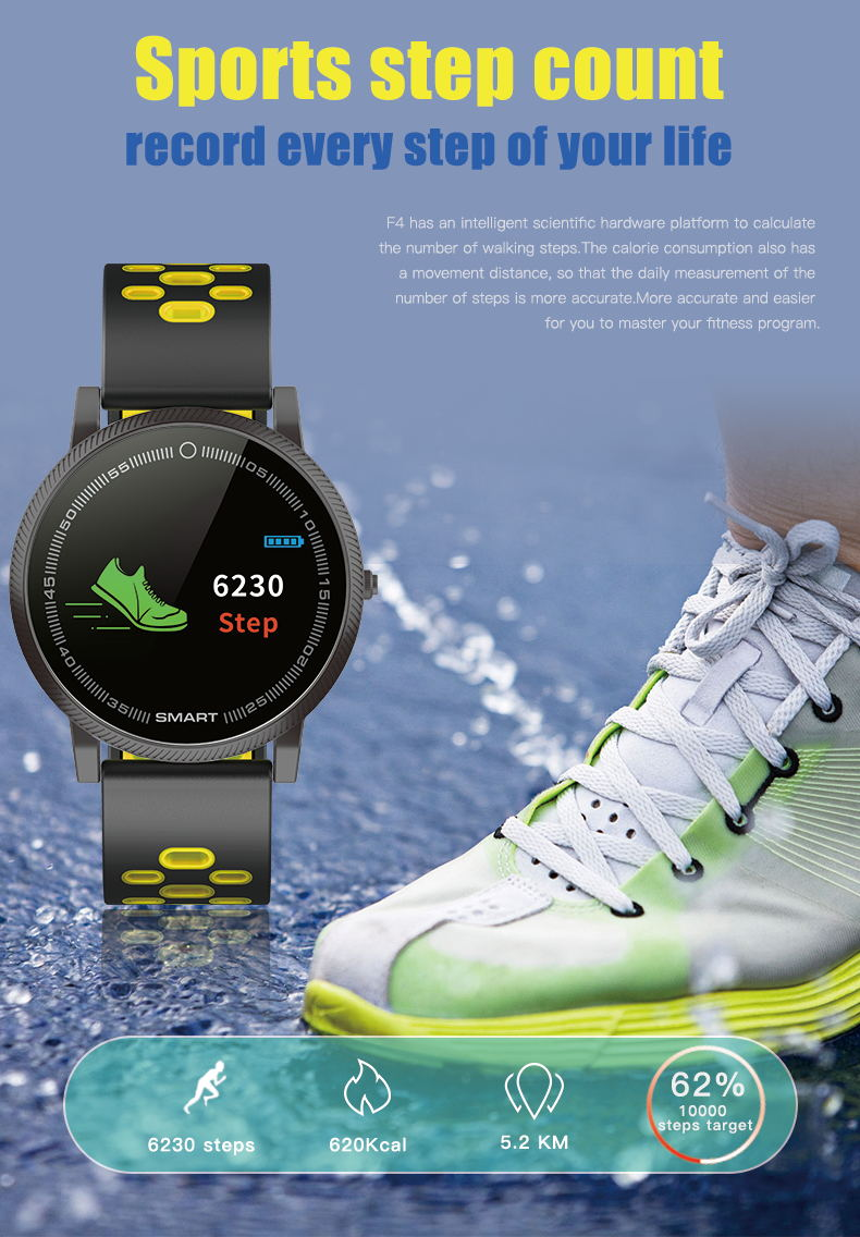 MOCRUX F4 Color Touch Screen Smartwatch Smart Sport Fitness Watch Men Women Heart rate monitor Wearable Devices for IOS Android (6)