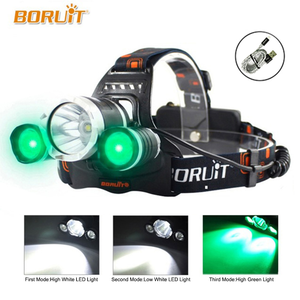 Boruit 5000 LED Headlamp CREE XML-L2 R2 Headlight Head Torch flashlight Head lamp by 18650 battery for Camping Fishing Hunting b21 9000lm l2 cree led headlamp waterproof head light camping lamp boruit led lights by 18650 battery with usb cable