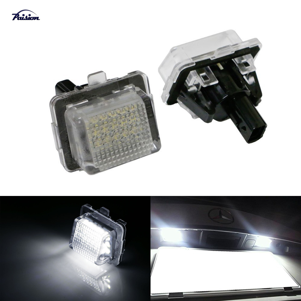 2pcs led number license plate light oem replacement for for Led light for mercedes benz