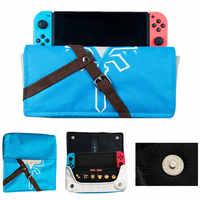 Bolsa de tela suave para almacenamiento de Estuche de transporte bolsa de juego portátil funda para Nintendo Switch NS Joy Con consola y soporte de juego de cartas