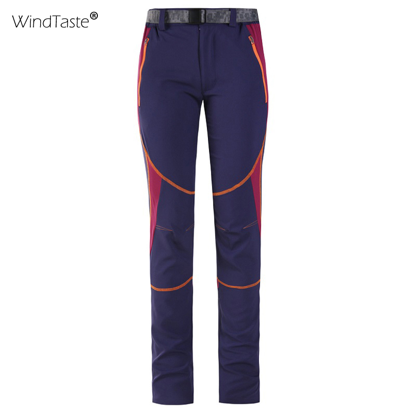 WindTaste Summer Women's Quick Dry Breathable Hiking Pants Outdoor Climbing Trekking Thin Elastic Anti-UV Female Trousers KA032