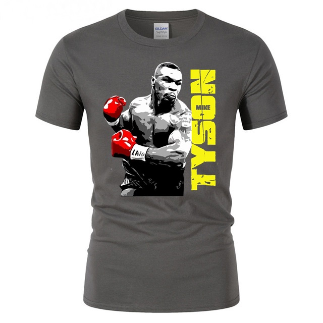 Men's T-shirt Mike Tyson Poster Printed Tshirt Cool Mens Basic T Shirt Men Woman Fitness Sport Colthes Youth Boy Social Tops Tee