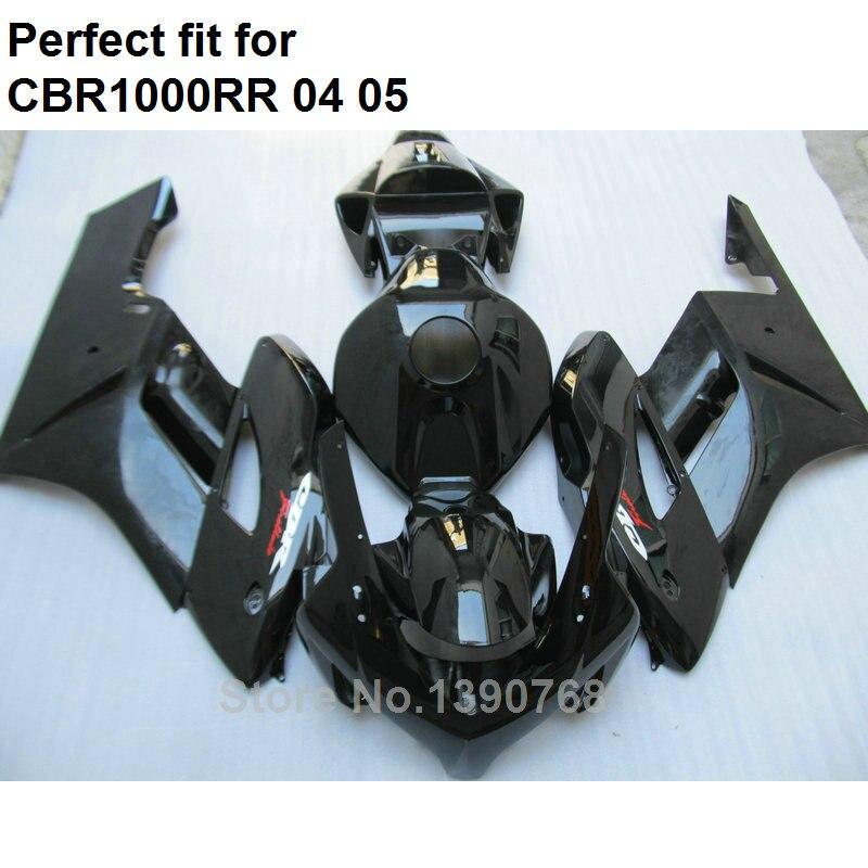 Injection molded bodywork fairings for Honda black CBR1000RR 2004 2005 fairing kit CBR 1000RR 04 05