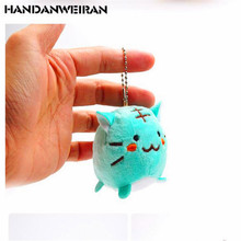 1PCS Mini tiger cat plush toys pendant dolls cartoon animal stuffed toy cute small ornaments mobile phone chain for girl 6CM