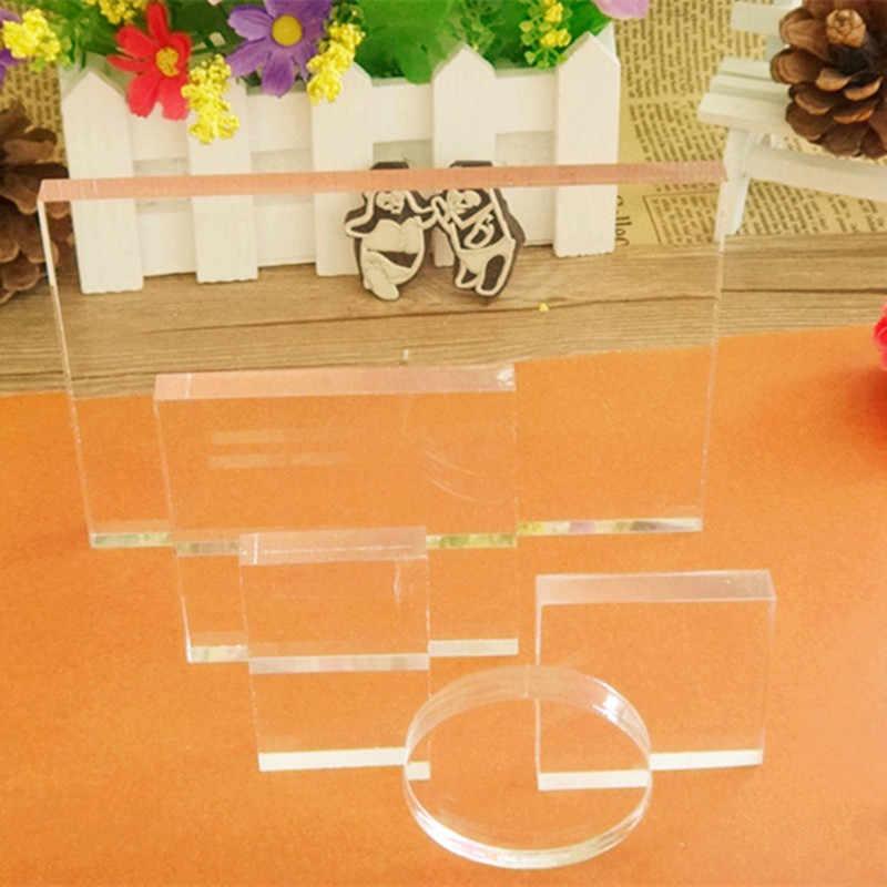 5pc lote novo selo claro bloco de acrílico conjunto para transparente acrílico carimbo almofada diy scrapbooking display acrílico claro riser stands