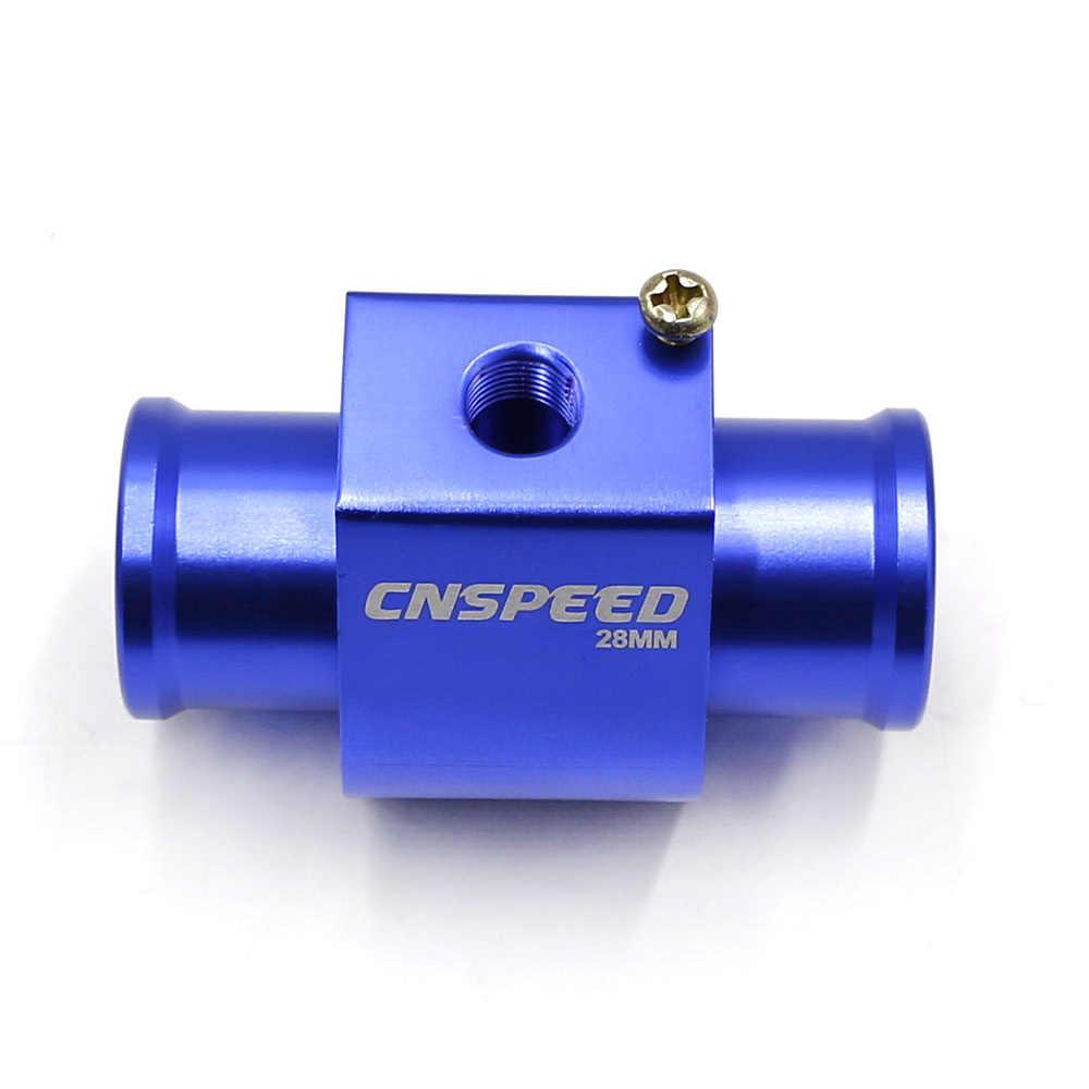 CNSPEED Alüminyum Su Sıcaklığı Göstergesi Radyatör Sıcaklık Ortak Boru Sensörü Hortumu Adaptörü 28 30 32 34 36 38 40mm mavi YC100345