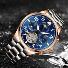 HAIQIN Men's Watches Automatic Mechanical Business Watch Men Top Brand Luxury Military Waterproof Tourbillon Clock Reloj Hombre