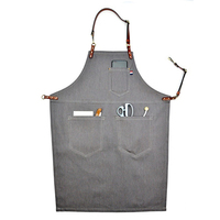Gray Kitchen Denim BBQ Cleaning Apron Cooking Apron Florist Bartender Man Cowboy Antifouling Chef Pinafore Delantal Tablier
