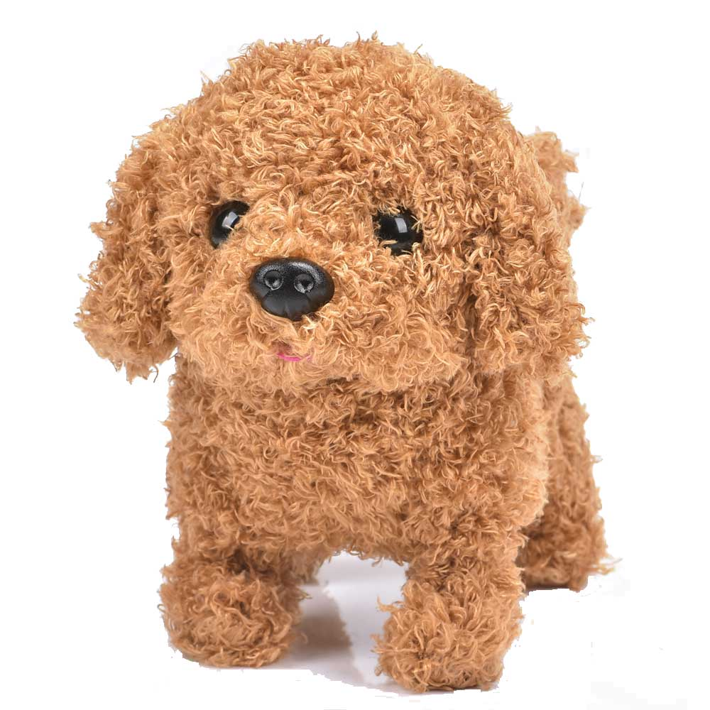Robot Dog Electronic Dog Interactive Plush Pet Dog Wag Tail Leash Teddy Toys Cute Walk Bark Funny Good Toys For Children Gift happy child girl toys electric toy plush pet dog cute and funny simulation dog