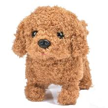 Buy Robot Dog Electronic Dog Interactive Plush Pet Dog Wag Tail Leash Teddy Toys Cute Walk Bark Funny Good Toys For Children Gift directly from merchant!