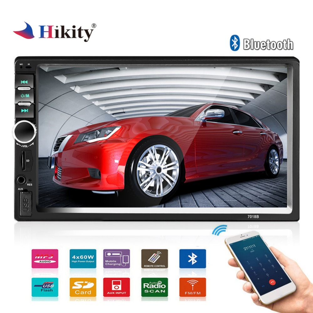 Hikity 7018B Double 2 Din font b Car b font Video Player 7 inch Touch Screen