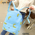 Guapabien 2016 Korean Banana Print Women Backpacks Girl Mustache Traveling Pratical School Bags Fashion Rucksack Canvas Backpack