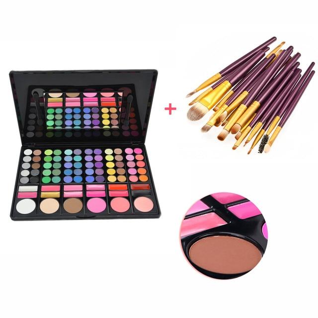 New 20pcs Fondation Powder Eyeliner Eyeshadow Eye Set Makeup Brushes + 78 Colors Face Contour Concealer Blush Cosmetic Palettes
