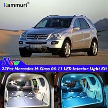 22 шт. белые светодиодные с CANBUS салона автомобиля Комплект ламп для Mercedes Benz W164 M-Class 2006-2011 светодиодный комплект внутреннего освещения