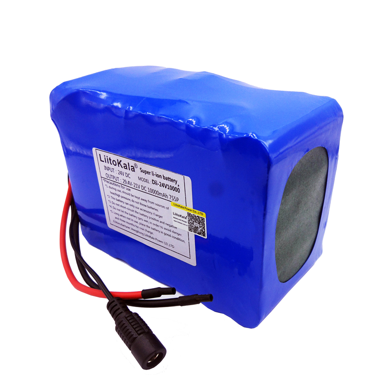Image 2 - HK LiitoKala 24V 10Ah 7S5P 18650 Battery li ion battery 29.4v 8000mAh electric bicycle li ion wheelchair battery pack for 250w-in Battery Packs from Consumer Electronics
