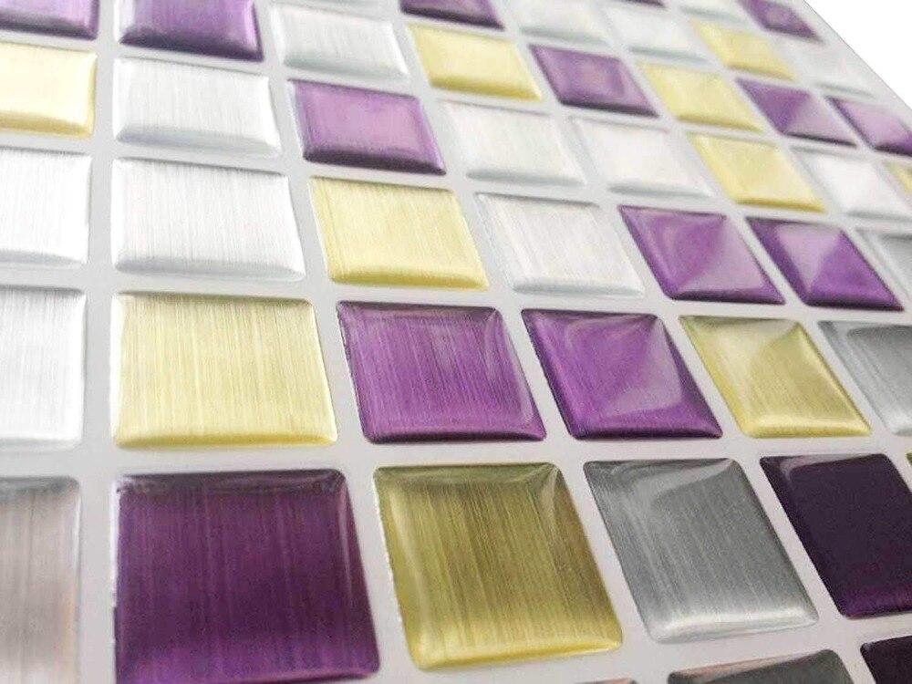 Frete Grátis Wootile PVC Papel de Parede Auto Adesivo Da Telha de Mosaico Viny decal adesivos de Parede DIY Decoração da Casa de Banho Cozinha
