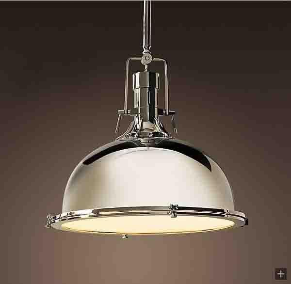 Modern Amani Pendant Light Polished Chrome Down Lighting Canopy Mount New E27 Diameter 38cm 110v 220v Lpl7 In Lights From